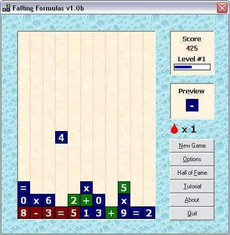 Falling Formulas