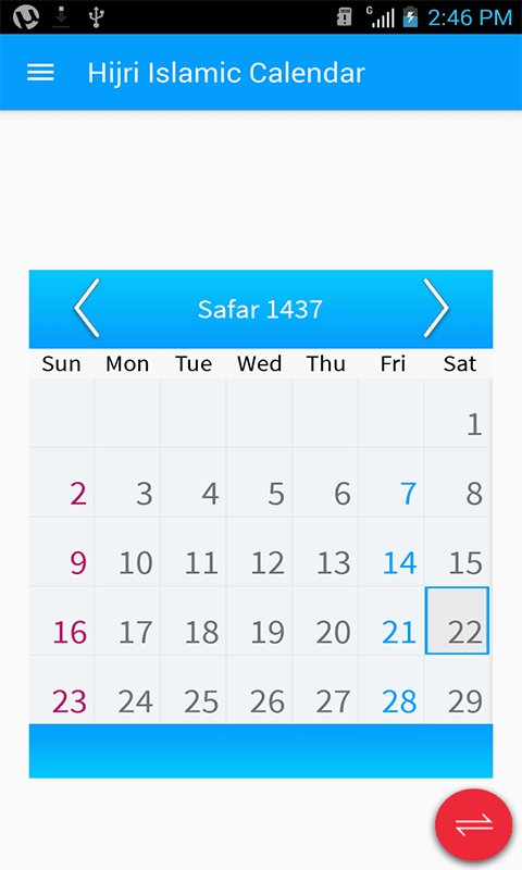 Hijri Calendar:Screen Widgets