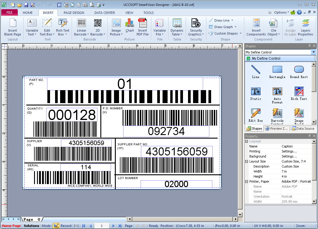 SmartVizor Barcode Label Printing Software  V12.1