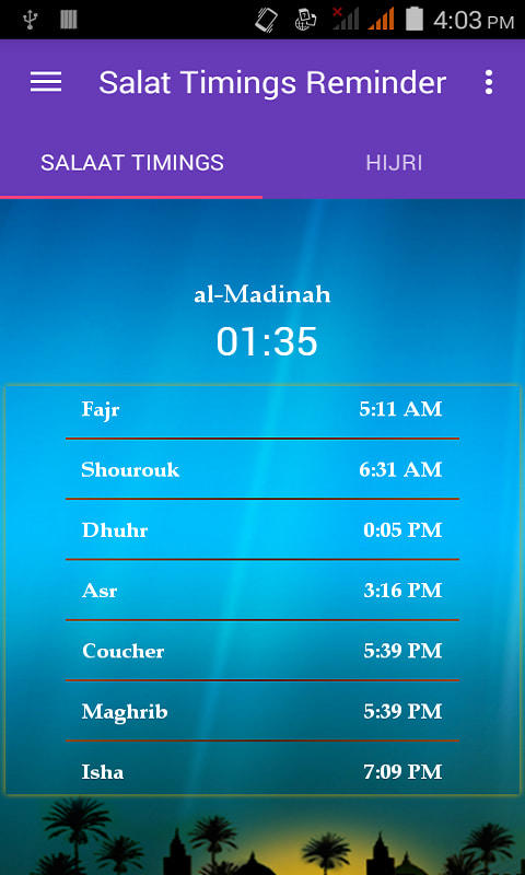 Prayer Times - Salaat Alarms