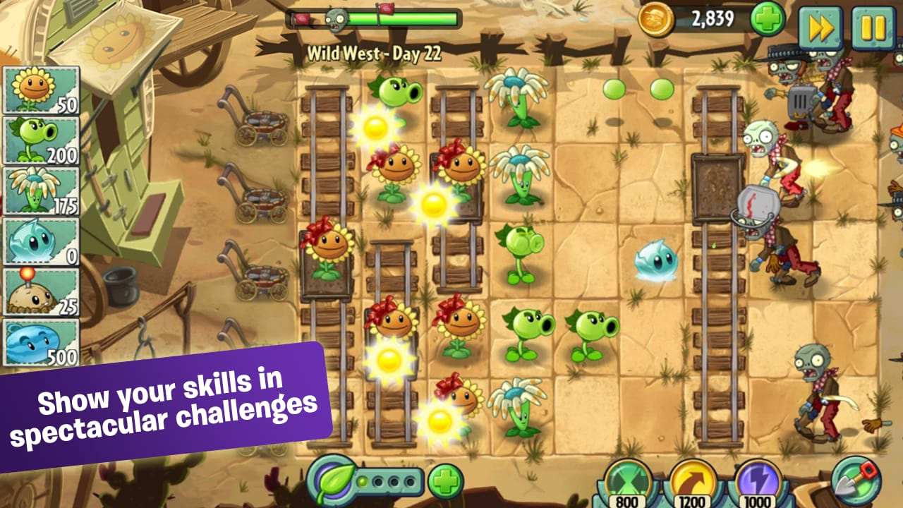 how to play plants vs zombies 2