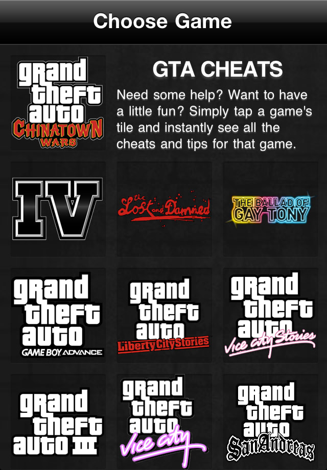 GTA Game Cheats