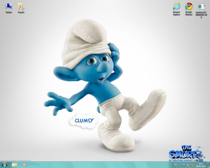 Smurfs 3D theme pack