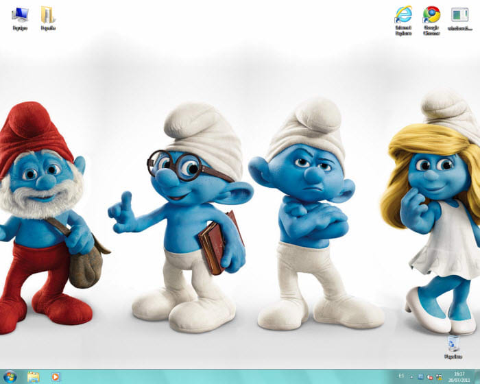 Tema dos Smurfs  para Windows 7