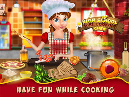 High School Girl Cooking Chef