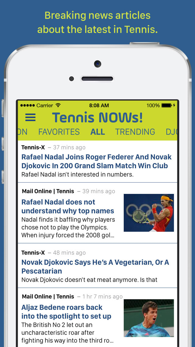 Tennis NOWs!