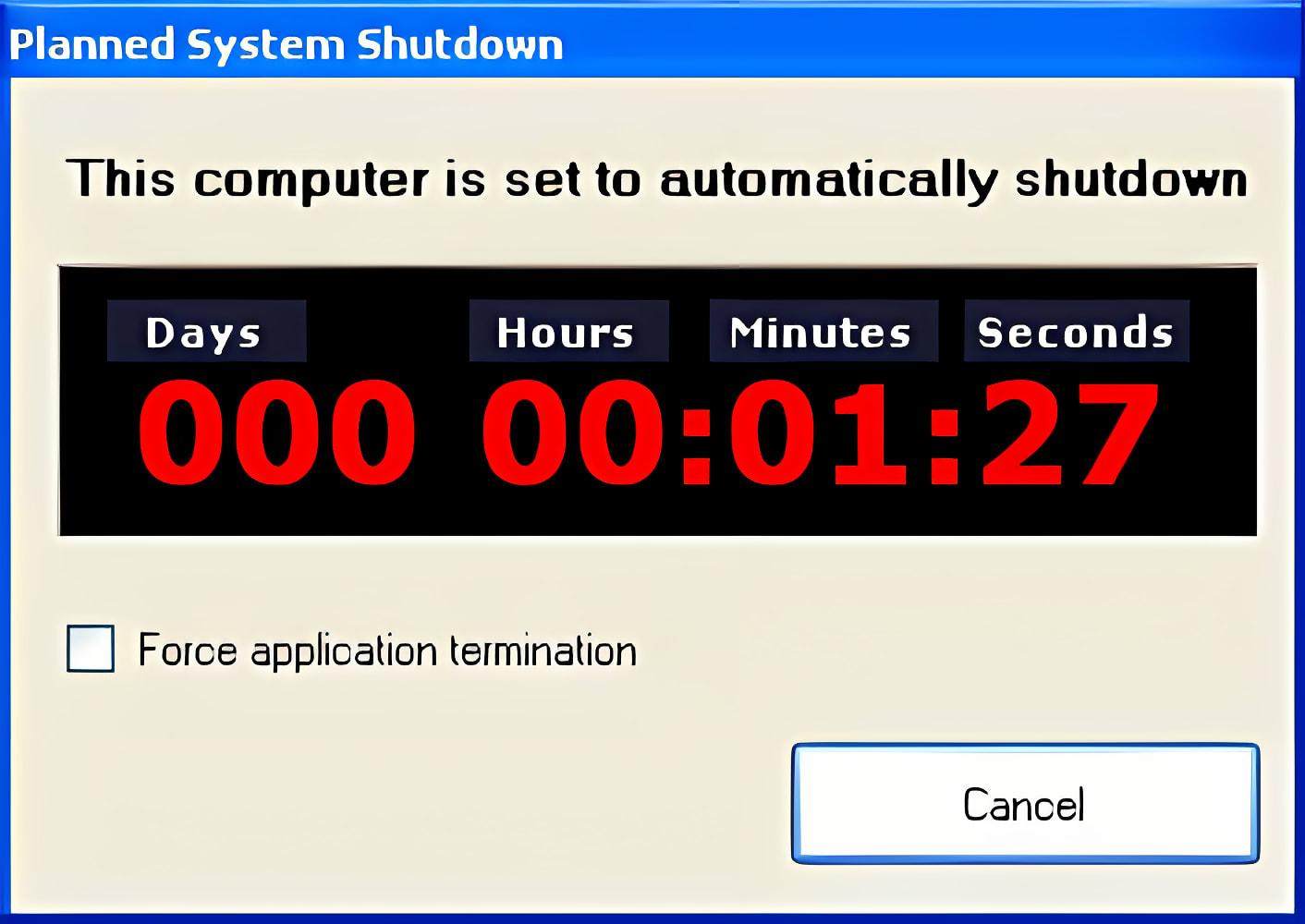 Planned System Shutdown
