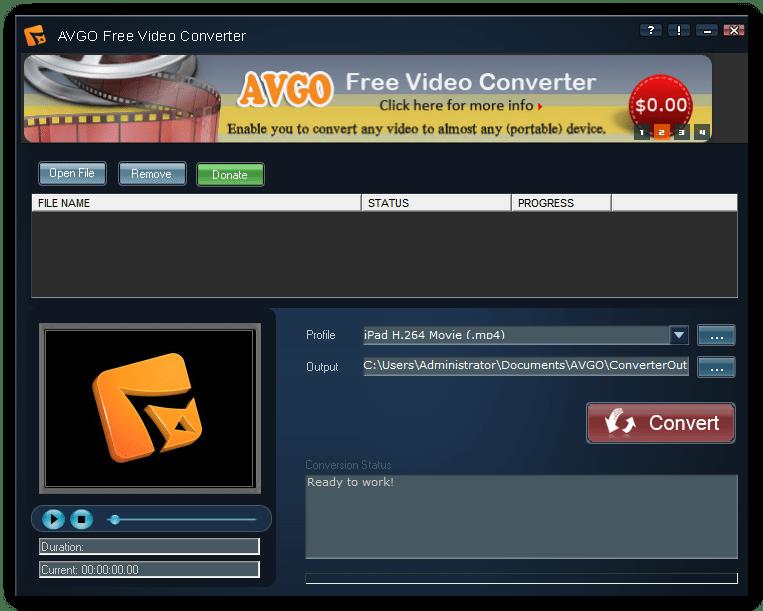 AVGO Free Video Converter