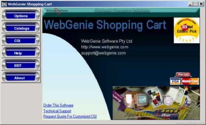 WebGenie Shopping Cart Professional