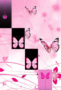 Pink Butterfly Piano Tiles 2018