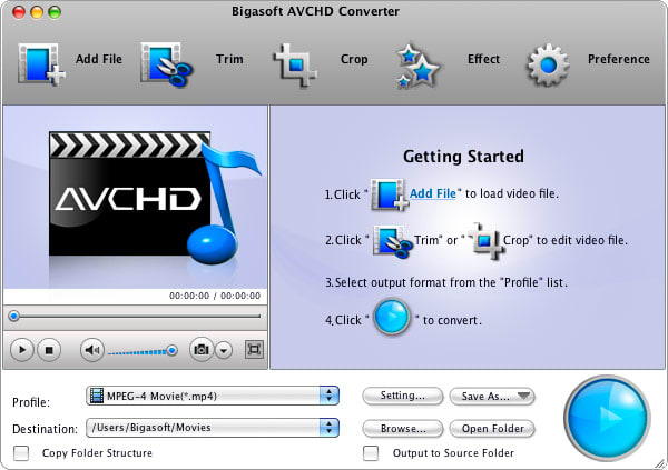 Bigasoft AVCHD Converter for Mac