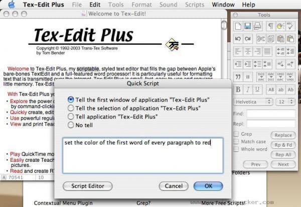 Tex-Edit Plus X