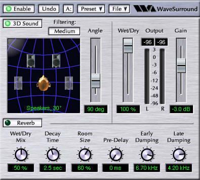 WaveSurround Plugin for Winamp