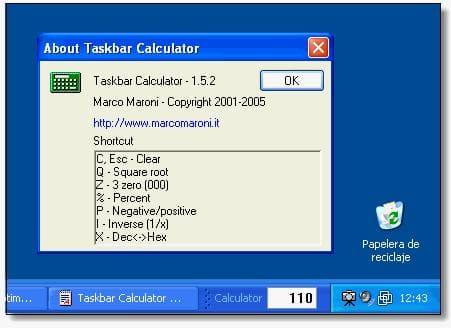 Taskbar Calculator