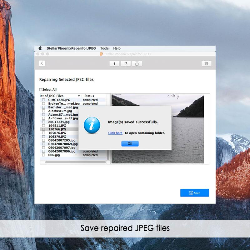Stellar Phoenix Repair For JPEG Mac