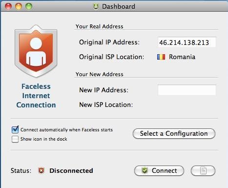 Faceless Internet Connection