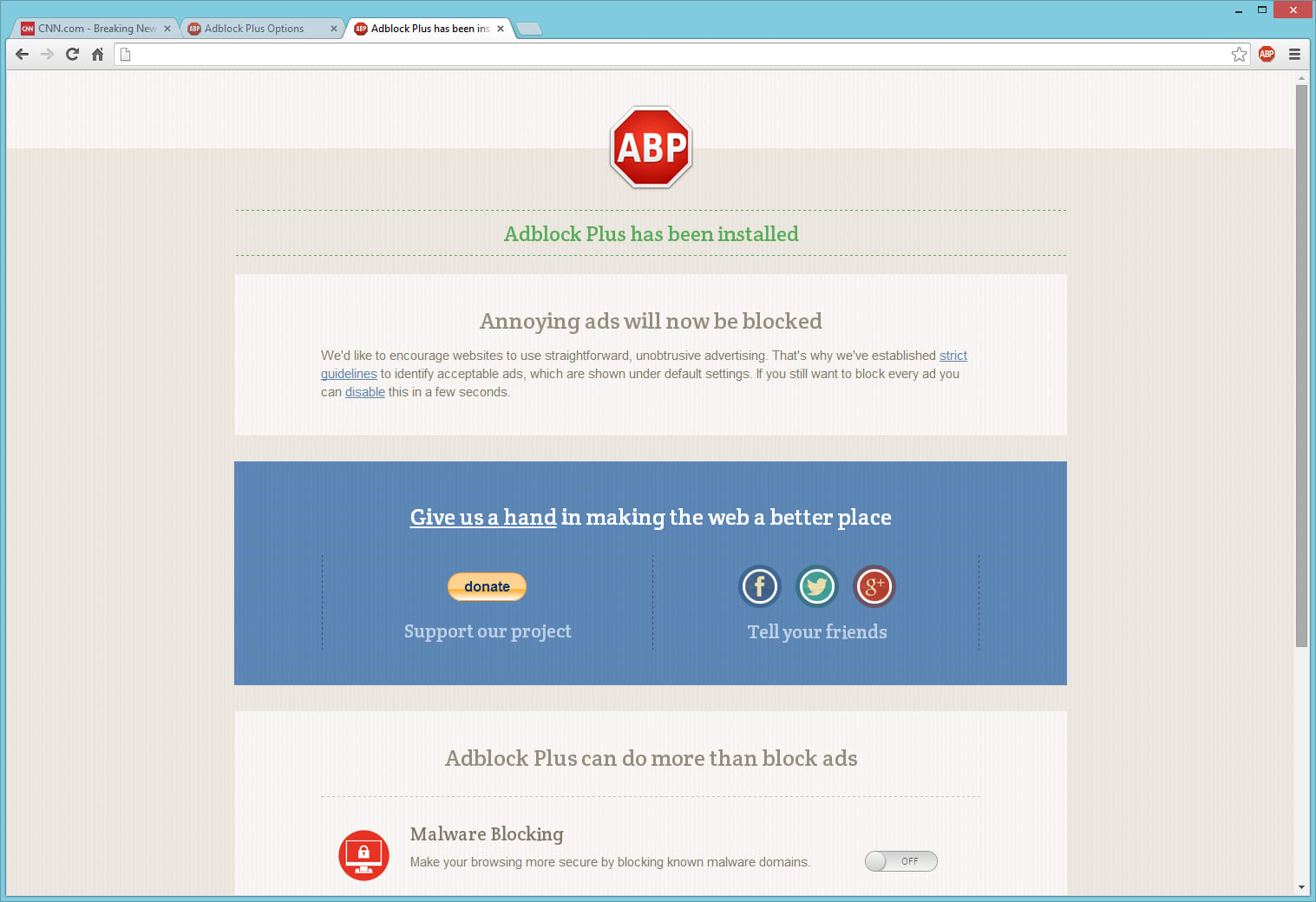 Update: TWO fake AdBlock Plus, including one with fake user numbers, have  been added back to the Chrome extension store, in the same  place.pic.twitter.com/ ...