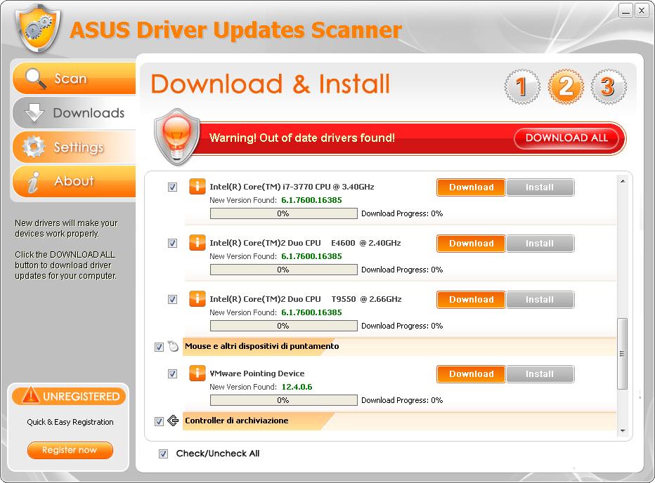 ASUS Driver Updates Scanner