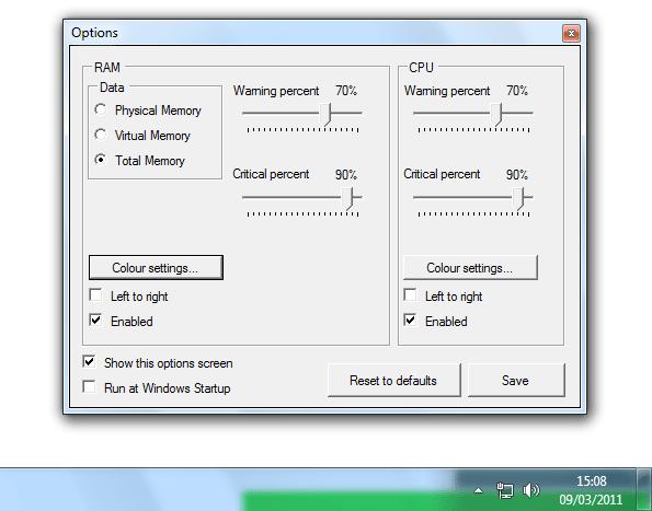 RAM Taskbar