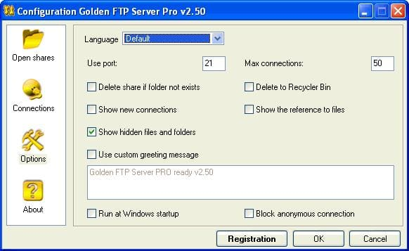 Golden FTP Server