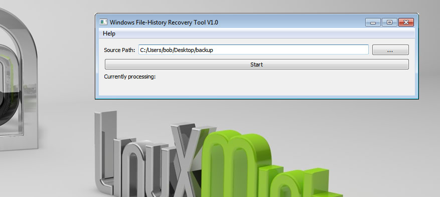 Windows File-History Recovery Tool