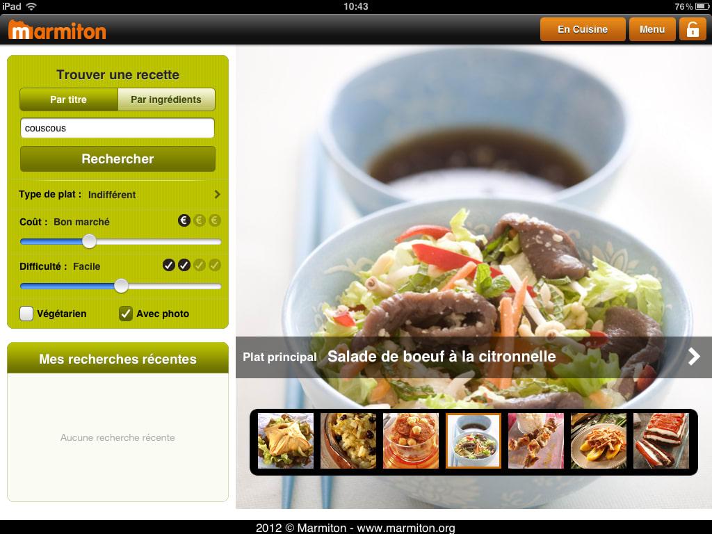 Marmiton Pour IPhone Télécharger - Appli cuisine