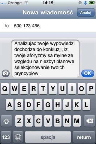 Teksty SMS