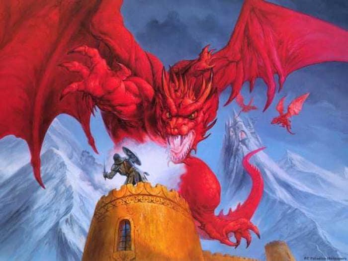 Dragão Vermelho Wallpaper