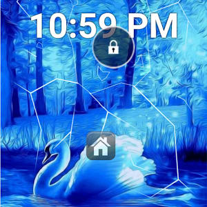 Blue Swan Forest Lock Screen