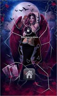 Gothic Rose Angel Lock Screen