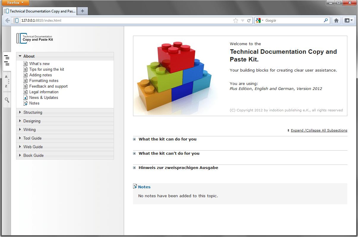 Technical Documentation Copy+Paste Kit
