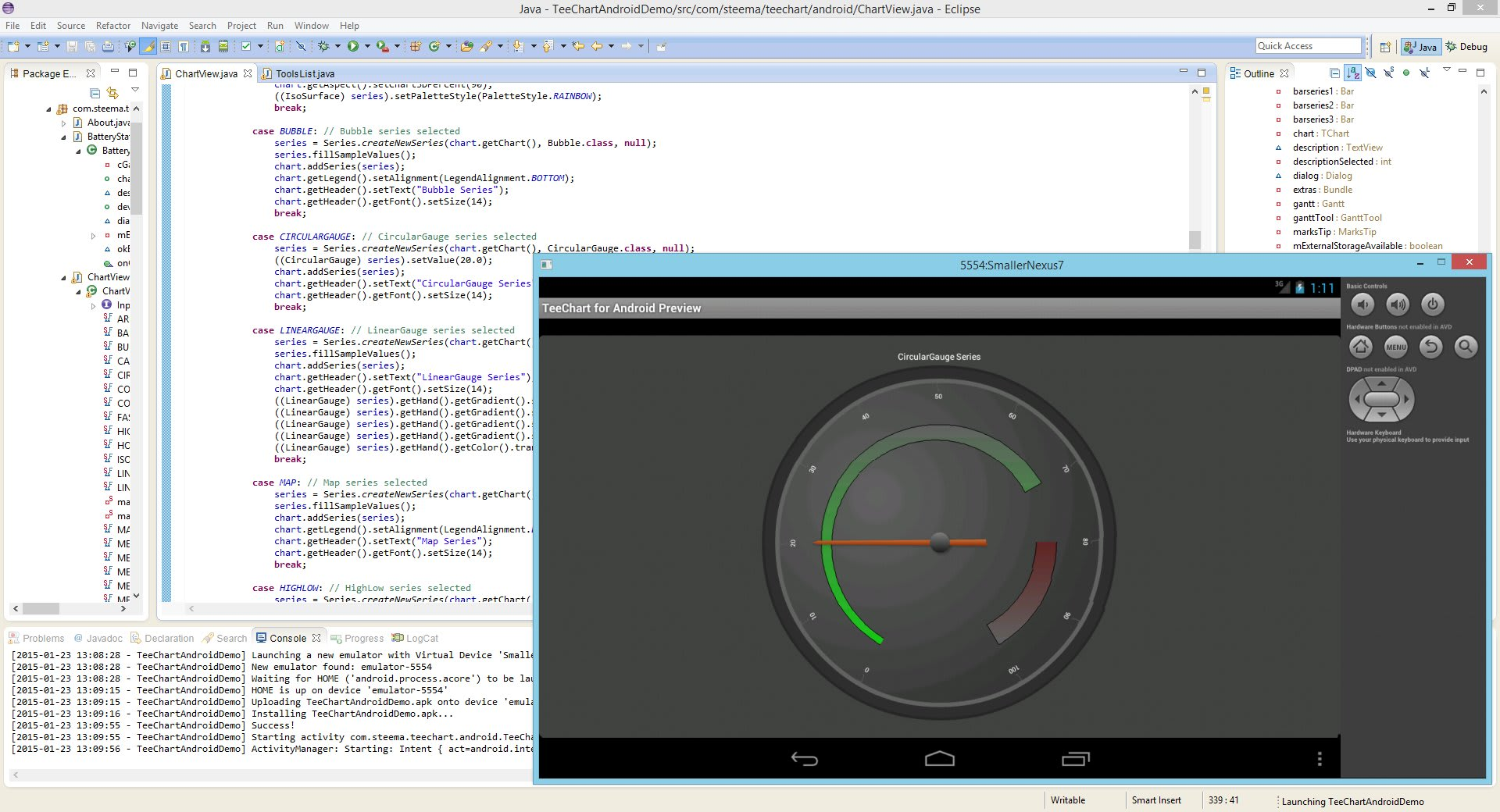TeeChart Java for Android
