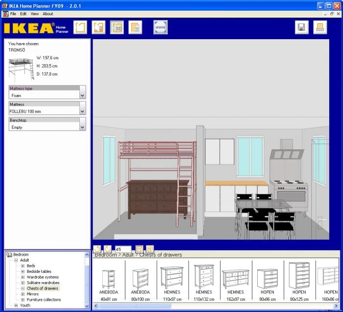 Ikea home planner download for Ikea cucina 3d