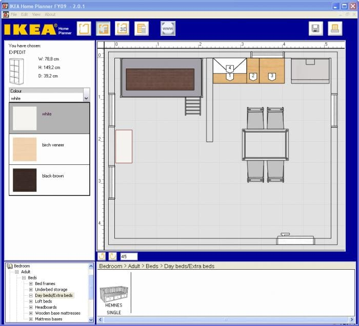 Ikea home planner download for Home furniture design software
