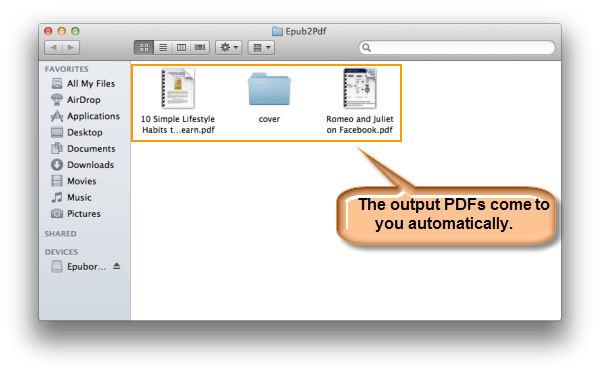 Epubor EPUB to PDF Converter for Mac