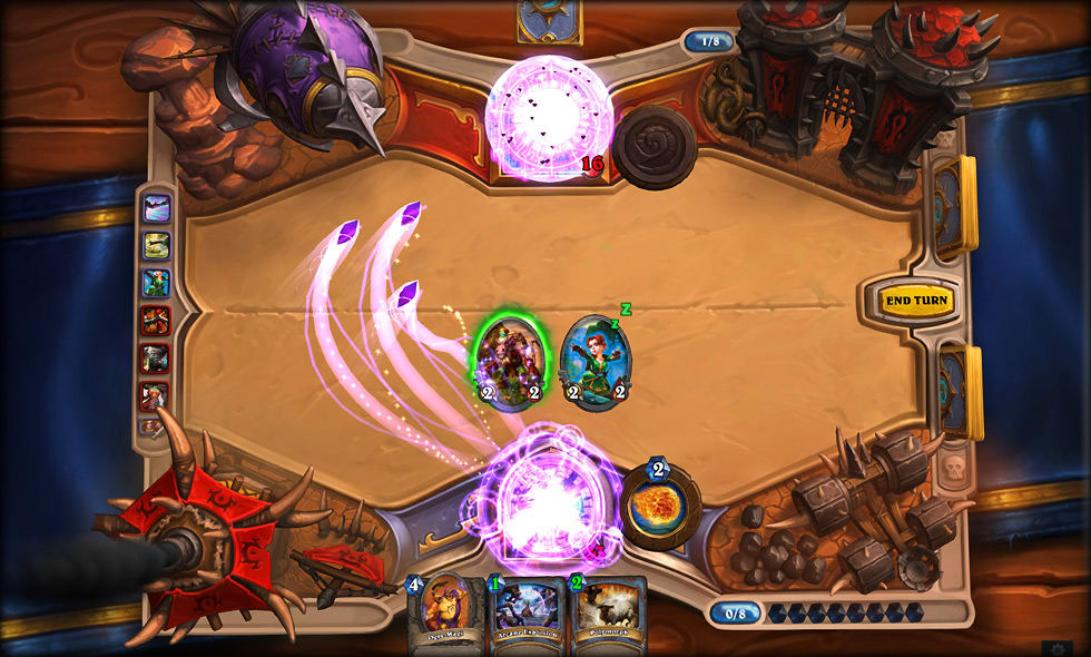 Hearthstone: An excellent free online card game set in the Warcraft universe