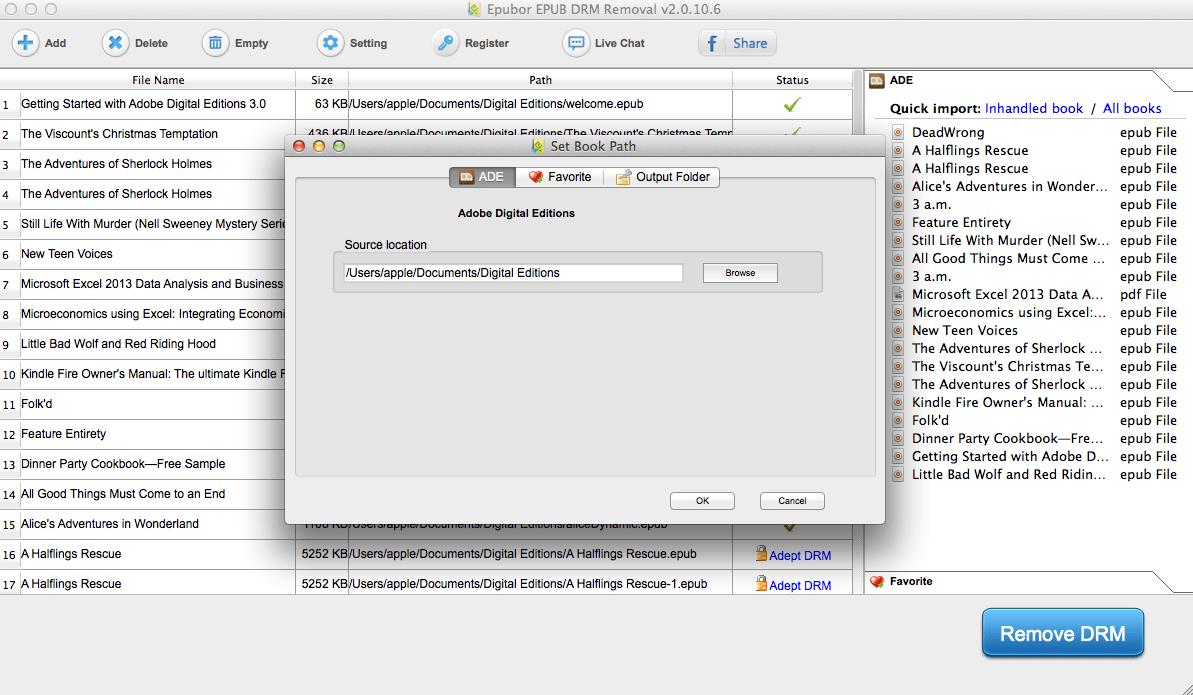 ePUB DRM Removal for Mac