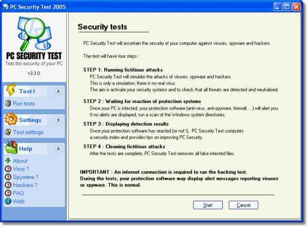 PC Security Test 2006
