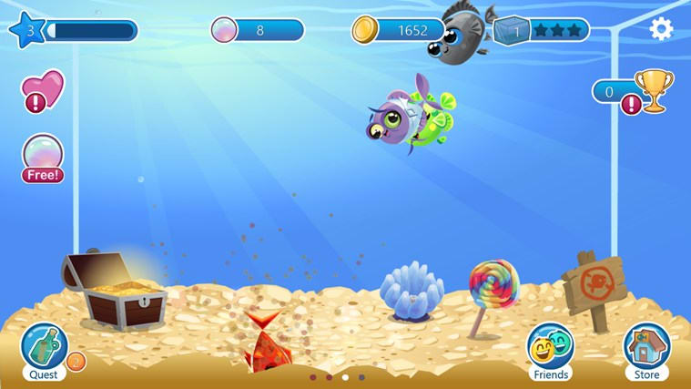 Fish with attitude for windows 10 windows download for Fish breeding games