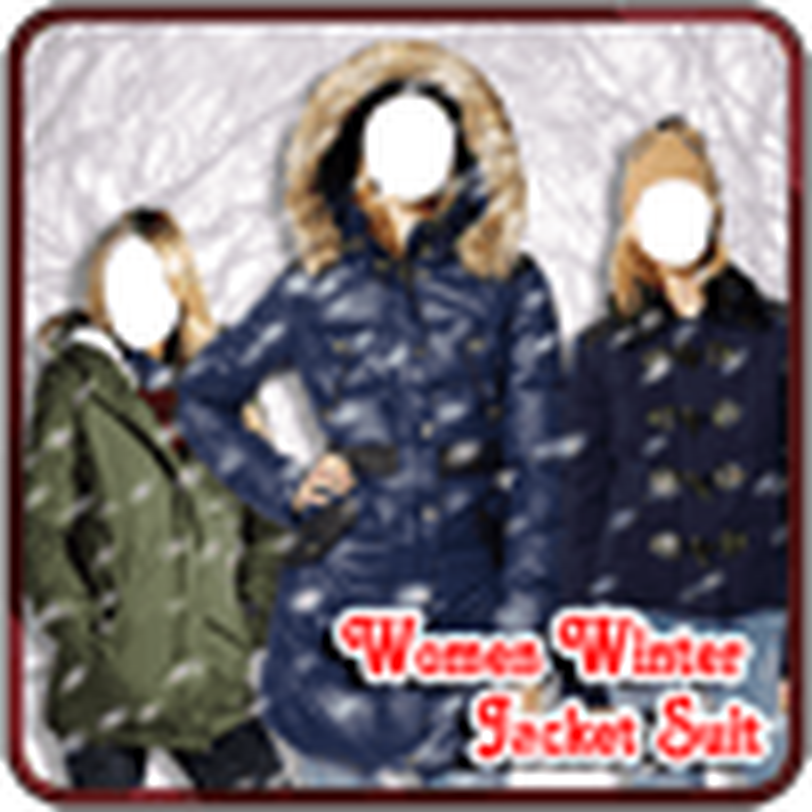 Women Winter Jacket Suit