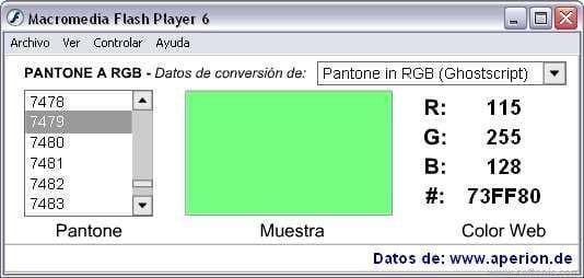 Pantone2RGB