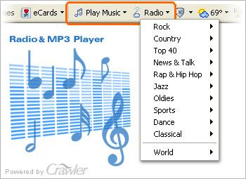 Crawler Radio & MP3 Player