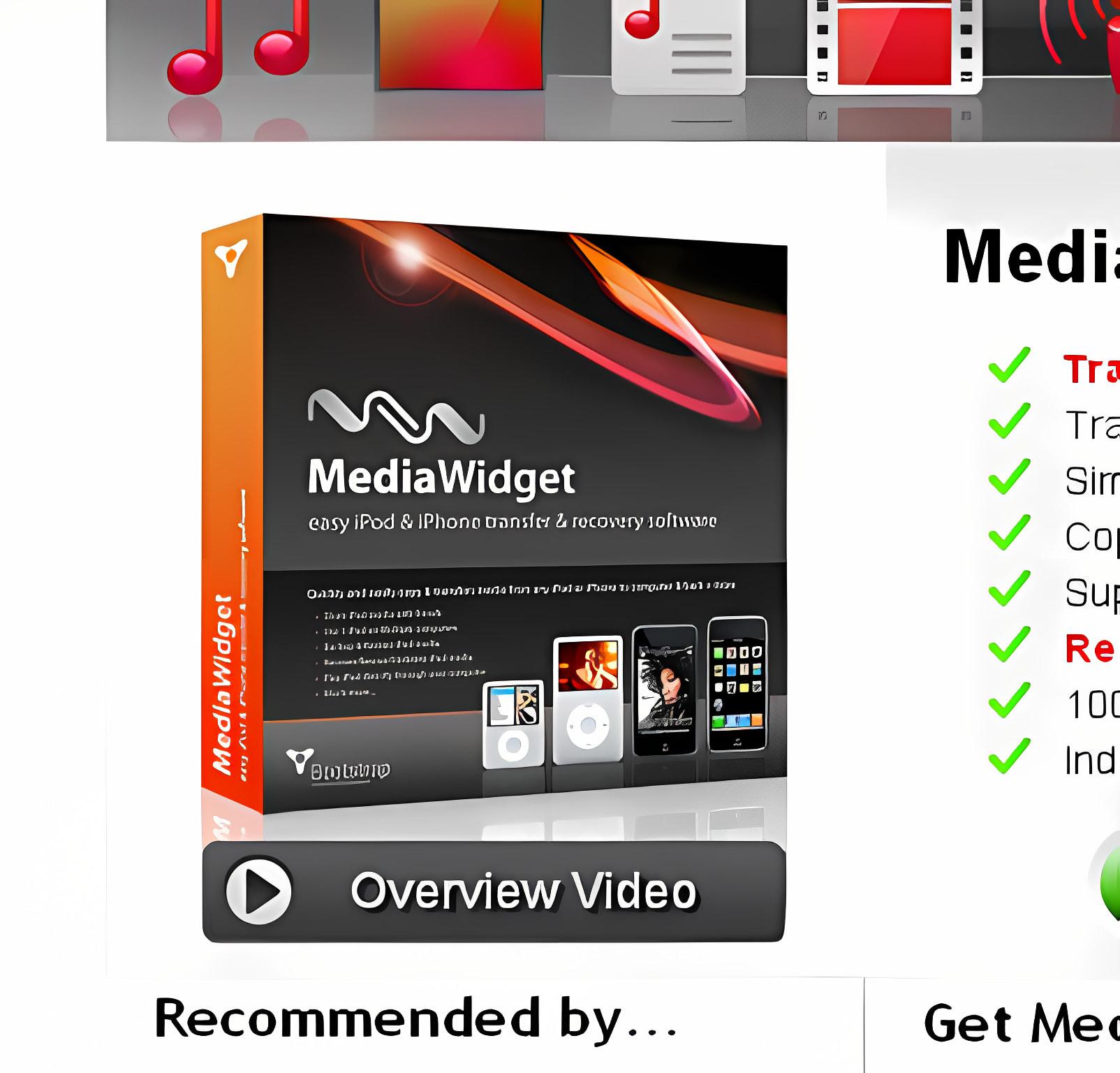 MediaWidget - Easy iPod Transfer