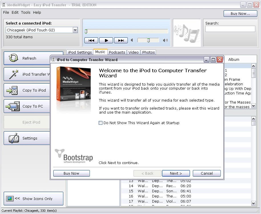 MediaWidget - Easy iPod Transfer