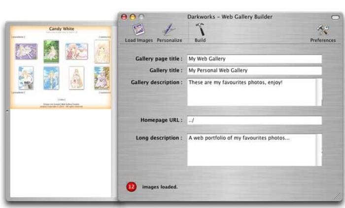 Web Gallery Builder