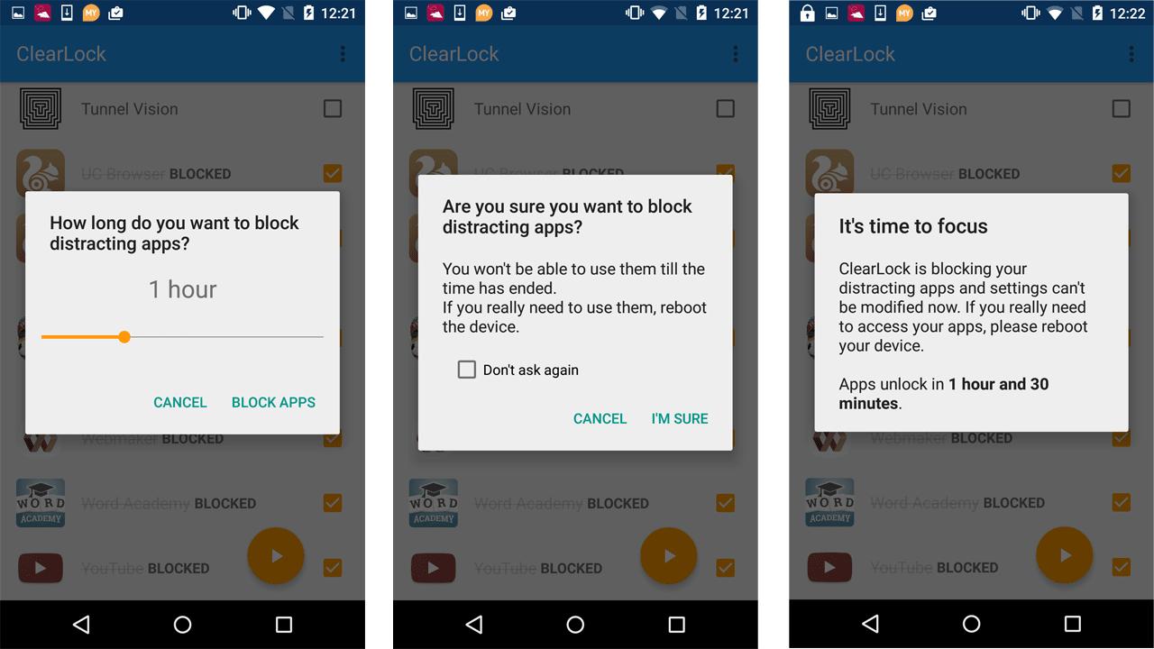 ClearLock: Block Distractions!
