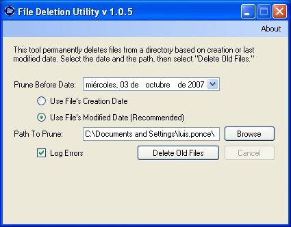 File Deletion Utility