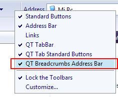 QT AddressBar