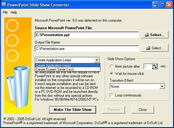 PowerPoint Slide Show Converter