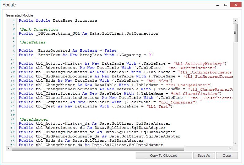 MZ Easy DataBase Schema